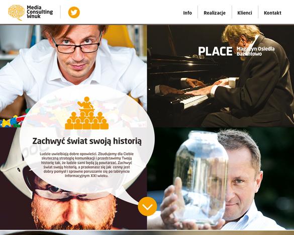 Projekt strony internetowej dla wnuk consulting