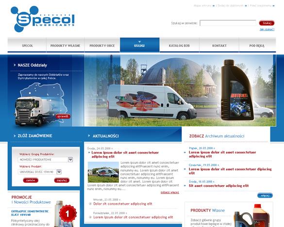 projekt strony internetowej dla firm