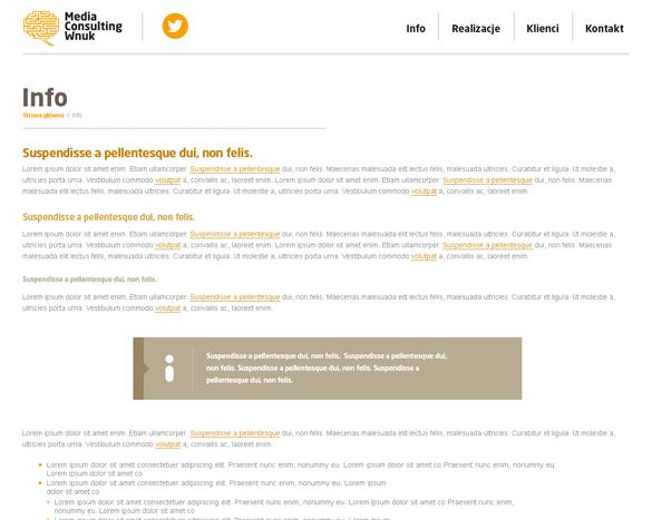 Strona internetowa dla agencji PR