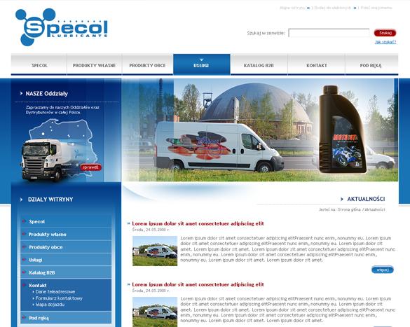 Strona internetowa dla firm