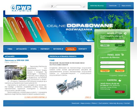 Strona internetowa dla PWP Katowice
