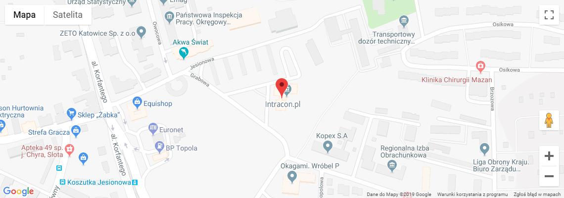 Jak dojechać do Agencji kreatywnej IntraCON.pl
